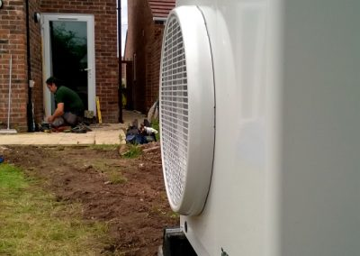 Dimplex A6M Air Source Heat Pump installation, by Cedar Renewables Director, Brett Randell