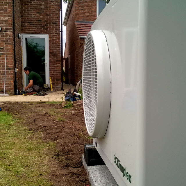 Air Source installation by Cedar Renewables