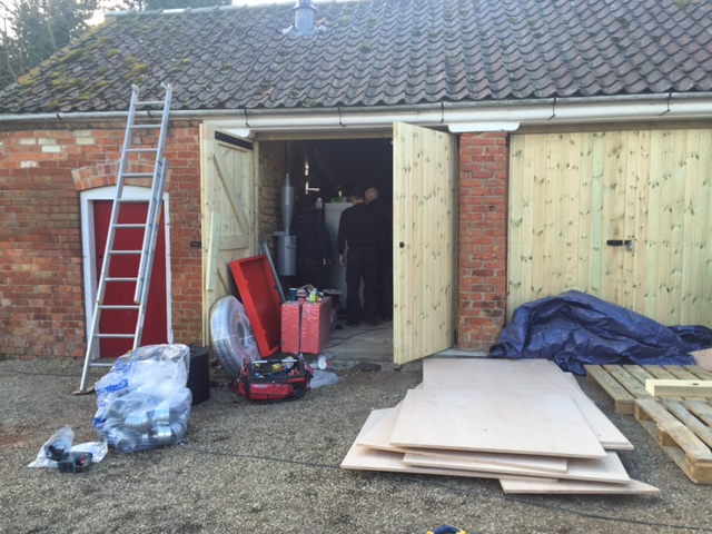 The Manor, Redbourne. Replacing an old oil boiler.