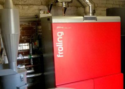 Froling P4 100 kilowatt biomass boiler