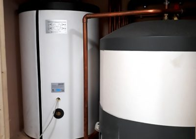 Stiebel Eltron buffer tank and hot water cylinder