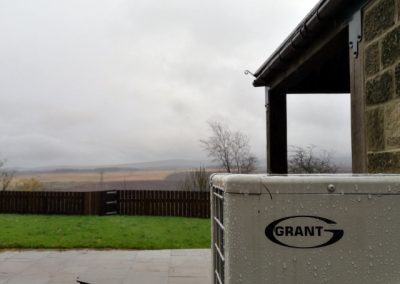 Grant VortexAir Air Source Heat Pump looking over the River Don Valley