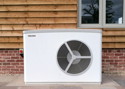 Stiebel Eltron Air Source Heat Pump WPL25AS outside the customer's house